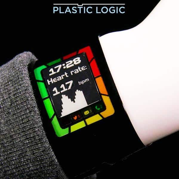 Plastic Logic Flexible Smartwatch