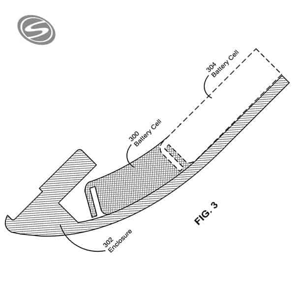Apple iWatch Curved Battery Patent
