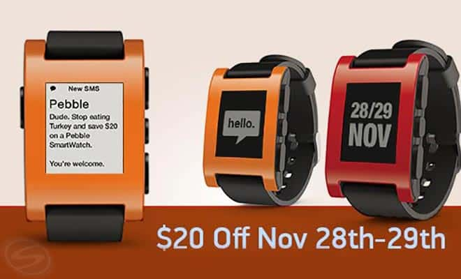 Pebble Smartwatch Black Friday