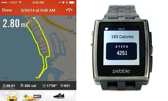 Pebble Watch Pedometer