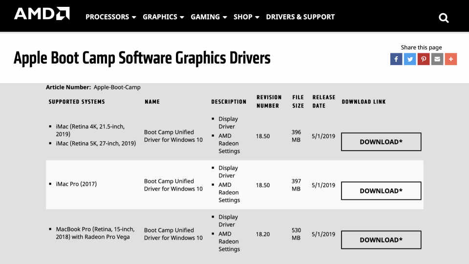 Download Apple Boot Camp Software Graphics Drivers From AMD